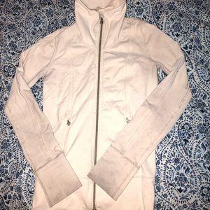 Cream Lululemon zip up jacket